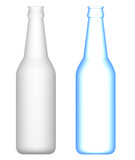Beer Bottles : Transparent and opaque poster