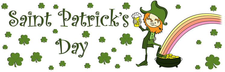 Saint Patrick's day banner