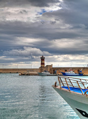 Landscape view of Monopoli seaport. Apulia.