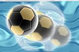 Flag of Palau wavy soccer website poster