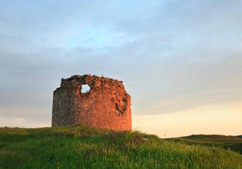 Crimean ancient fortress sunset view (Ukraine).
