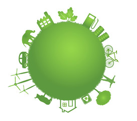 ecology green planet illustration