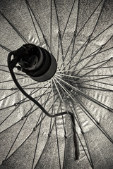 studio strobe lighting and reflective umbrella
