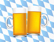 bavarian beer and flag background vector