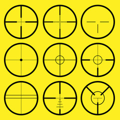 different types of crosshair or reticle