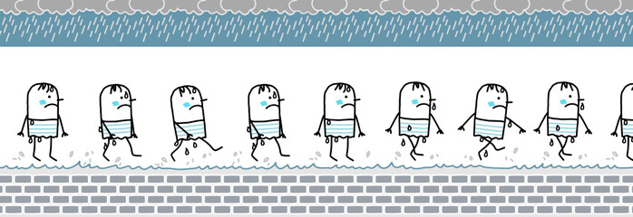 cold & wet walking character for animated sprite