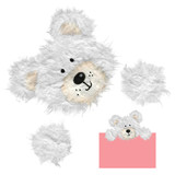 Fuzzy Paper Tear Bear with Paws poster