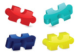Glossy Three-Dimensional Puzzle Pieces