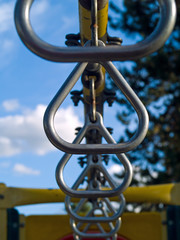 Playground Equipment Closeups Showing Detail on a Sunny Day