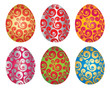 Set of six Easter eggs