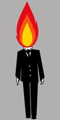 fuoco testa