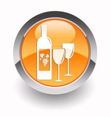 ''Wine'' glossy icon