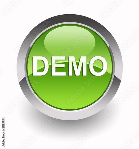 ''Demo'' glossy icon