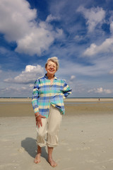 Senior Woman at the Beach