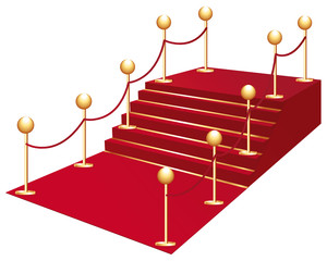 Red carpet for vip access