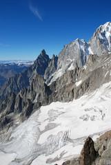 Vista aerea dal Monte Bianco