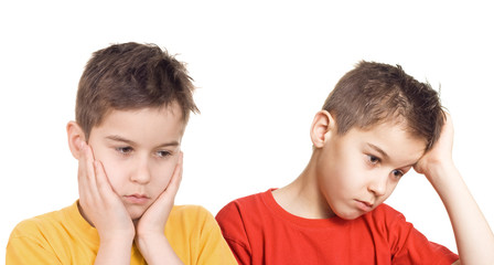 Worried boys