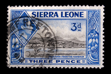 Vintage Sierra Leone postage stamp
