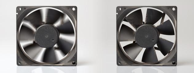 ventilateur poussière encrasser tourner nettoyer pc informatique