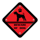 Beware of dog sign poster