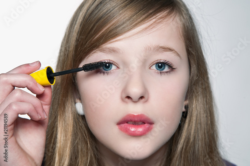 Fototapeten,teenager,makeup,faces,mascara