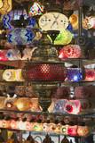 Turkey, Istanbul, Grand Bazaar, turkish lanterns for sale poster