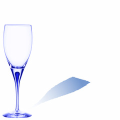 blue glass with space for text