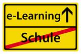 e-Learning statt Schule poster