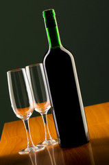 Wine concept with gradient background