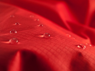 waterproof textile clothing red