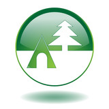 CAMPSITE Web Button (Camping Green Nature Holidays Camper Vector poster
