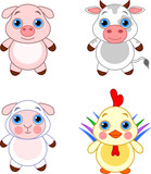 Cute animals set 03 poster