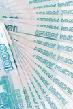 russian rouble banknotes poster