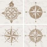 Vintage róża kompasu