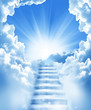 Leinwandbild Motiv stairs in sky