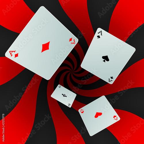 Cartes à jouer sur fond maelstrom