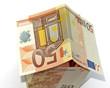 maison 50 euros, fond blanc