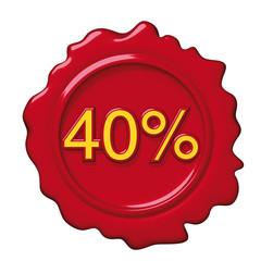 sigillo rosso 40 per cento