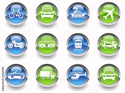 ''Transport'' glossy icons