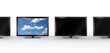 Stylish LCD TV standing out