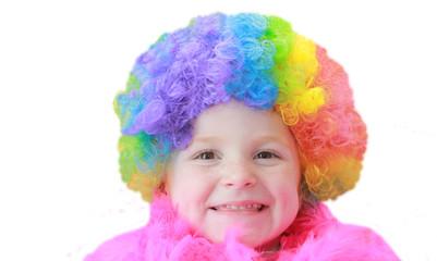 Petite fille clown