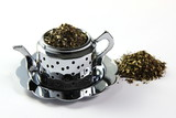 Teapot with mint tea