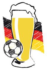 Fussblall und Bier