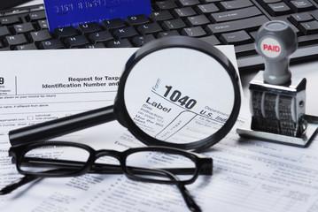 filling tax form 1040