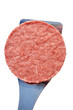 Frozen Hamburger Patty on a Spatula