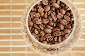 coffee in glass tableware