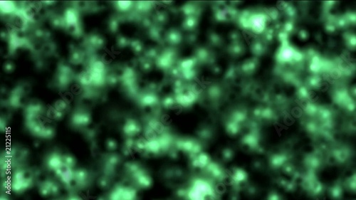 abstract green light and micro bio background