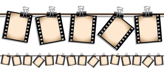 Seamless film stip illustration