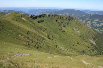 Vue sur le Massif Central à partir du Plomb du Cantal (Auvergne)