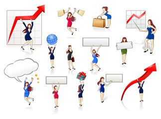 Businesswomen Icon Set 1